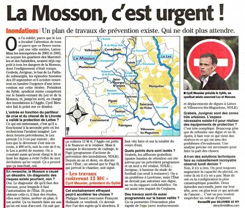 PAPI 2,inondations, Palavas,Mosson,ASPRI,